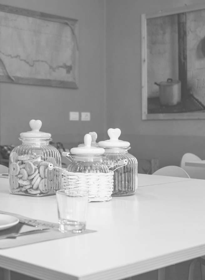 Cucina della zona accoglienza di Locanda Bortolino