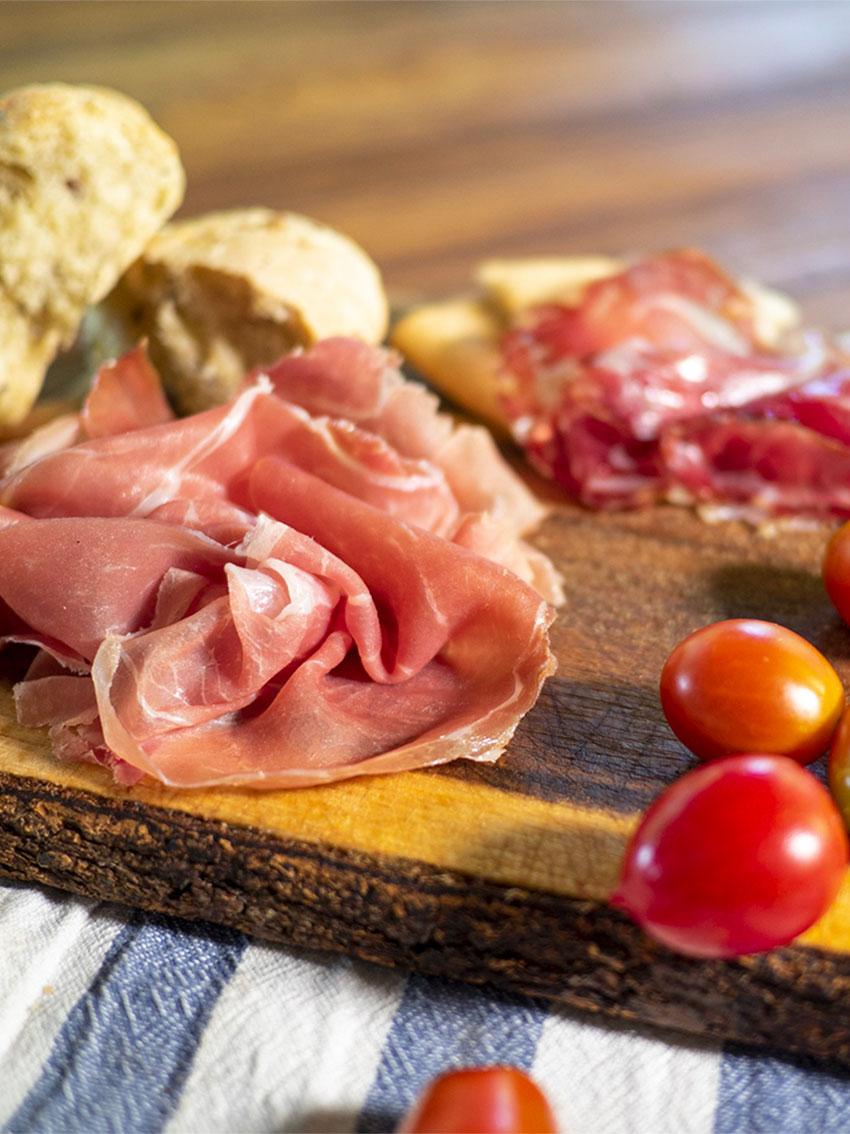 Detail platter cold cuts Locanda Bortolino Restaurant