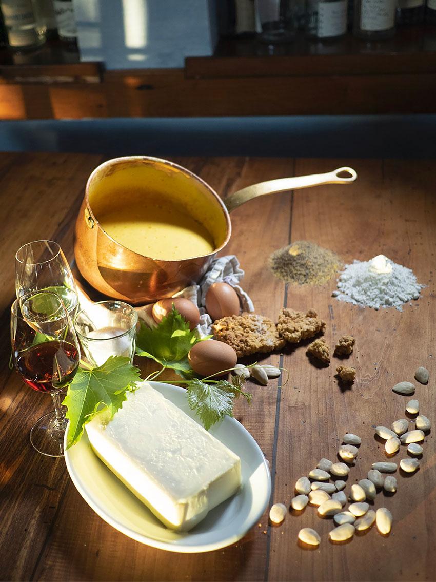 Homemade zabaione Locanda Bortolino Restaurant