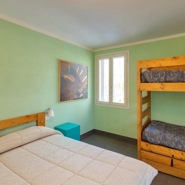 camera verde di Ostello Bortolino
